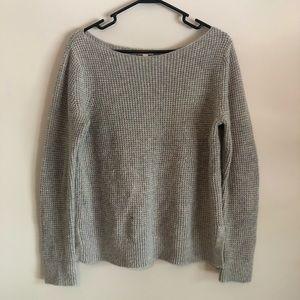 Gray Waffle Knit Sweater